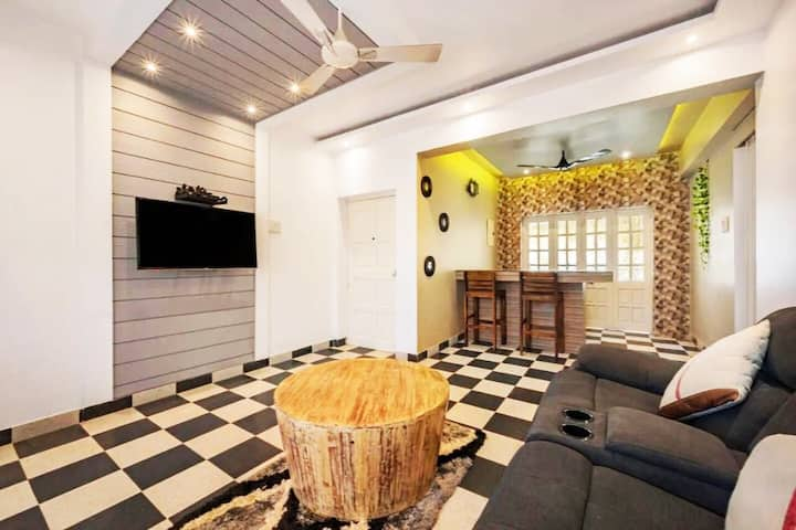Luxurious & Cozy 3BHK AC home nr Calangute beach