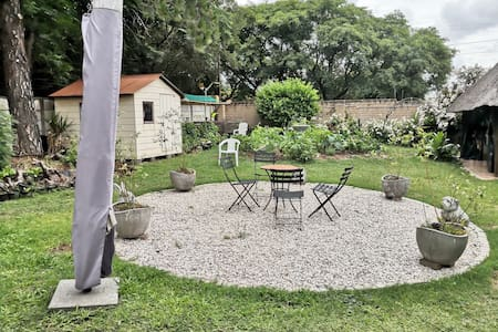 This is a garden chilling area on the way to the Lapa and glamping lapa
