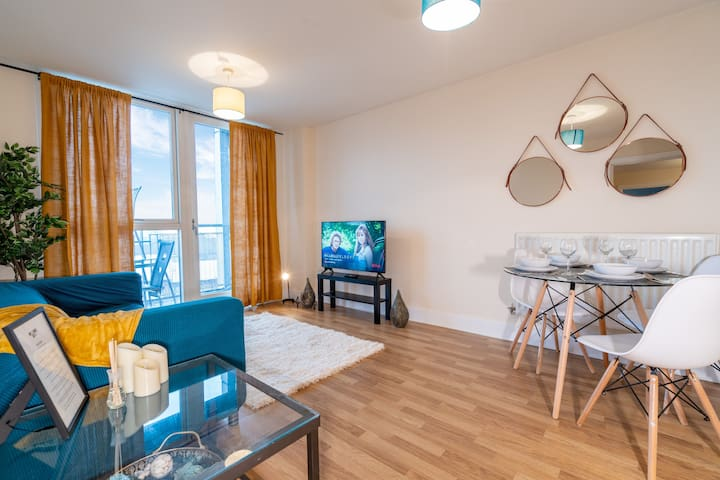 Cosy 2 bedroom apt near City Centre and Broad St