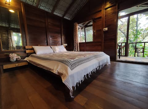 Cozy Wooden Jungle Cottage in the Lap of Nature