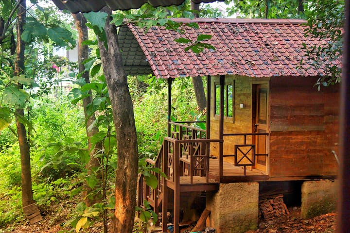 Cozy Wooden Jungle Cottage on the Natures lap