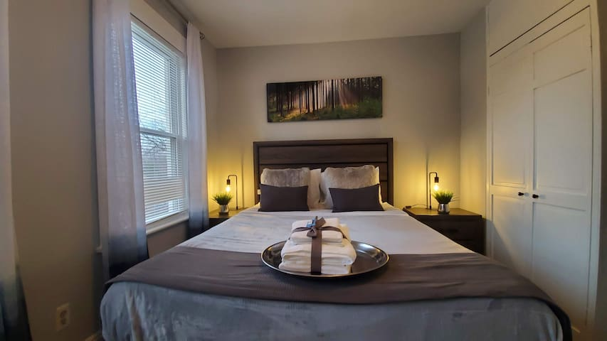 Our Silver Majesty Room includes two large closets, spacious desk and smart TV.