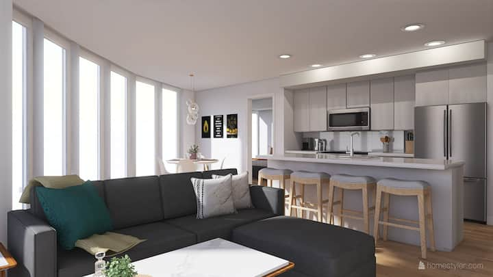 X-MAS in the ❤  of DT Kelowna |NEW CONDO| KING BED