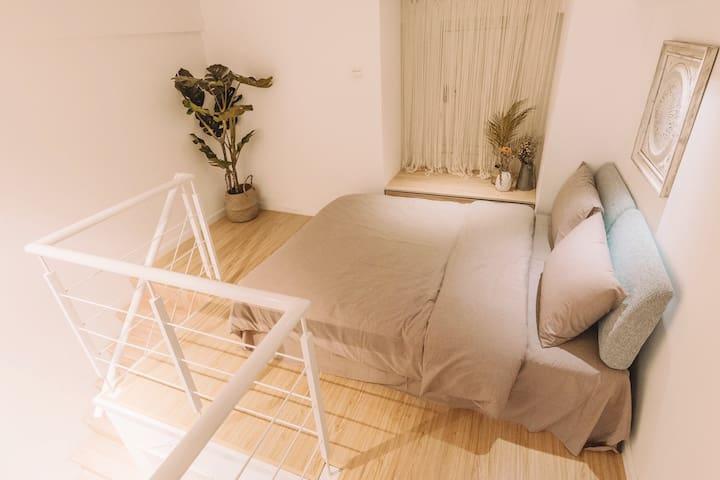 1.5米双人床 纯棉床品