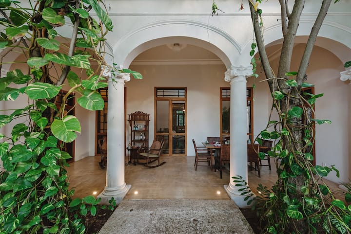 Historic, luxe villa on Merida's grand boulevard