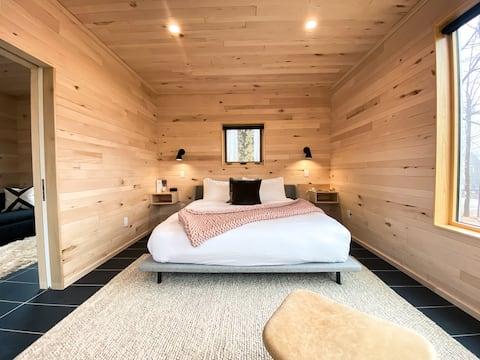 Ninho moderno com refeições, sauna, retiro de arroz selvagem ioga