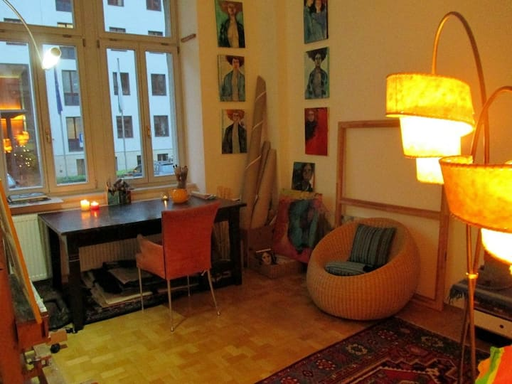 Artistic flat in best location of Dresden Neustadt