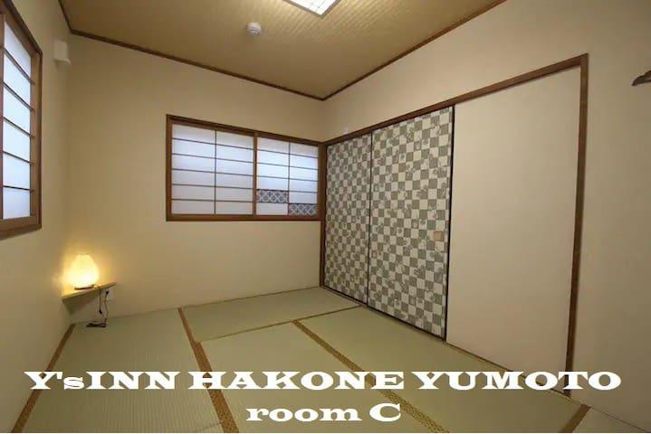 【Y'sINN HAKONE Room:C】箱根湯本駅から徒歩15分★WiFi完備★最大4名【箱根】