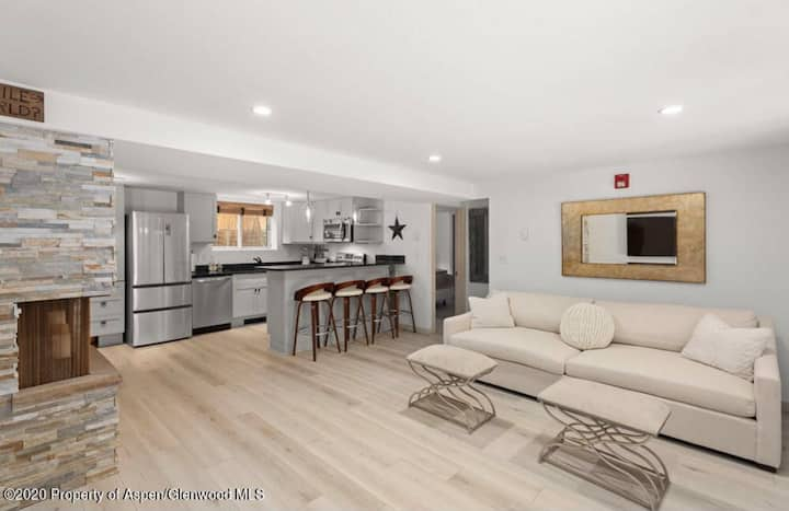 LOCATION! Newly remodeled 2 BR/2 Baths-Aspen Core