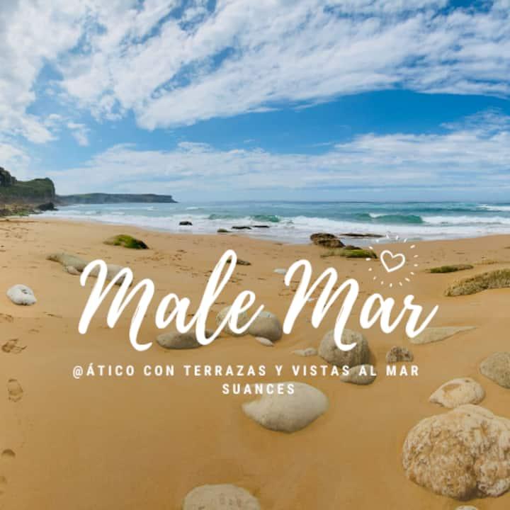 """Ático """"Malemar"""" en Suances. 2 terrazas vista mar"""