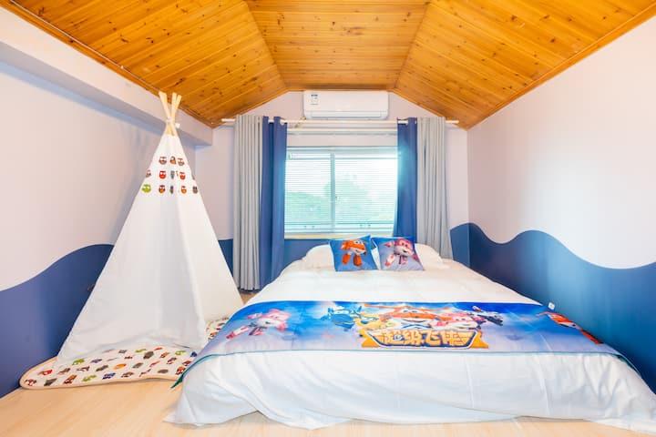 【龙游幻彩世界】坐落在大自然中的彩色缤纷的别墅,大床房
