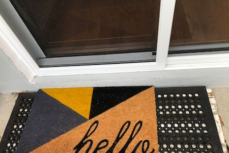 Very wide front door access, sliding doors, however there is a step to get over