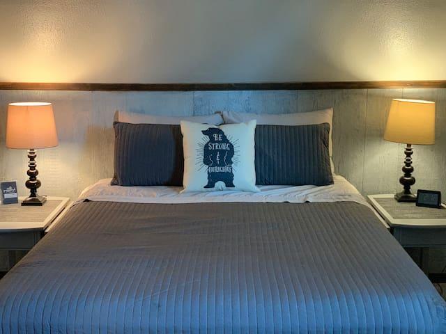 2nd bedroom upstairs.  Queen size bed