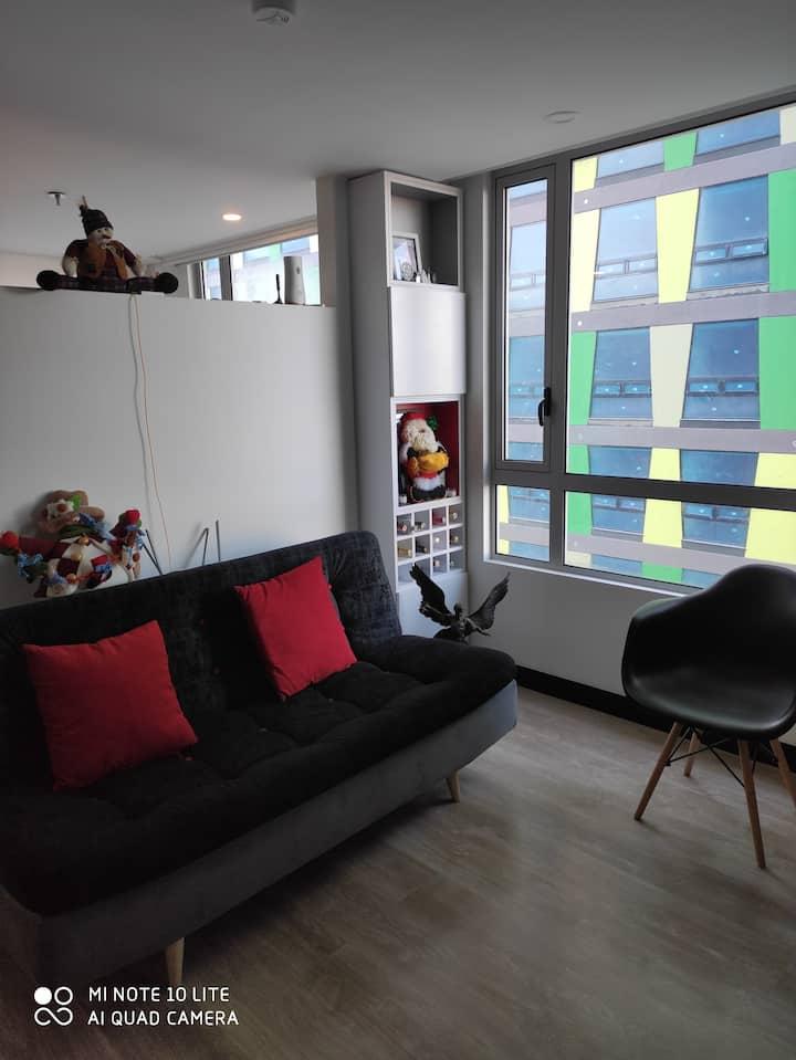 Apartamento nuevo y moderno en Chapinero