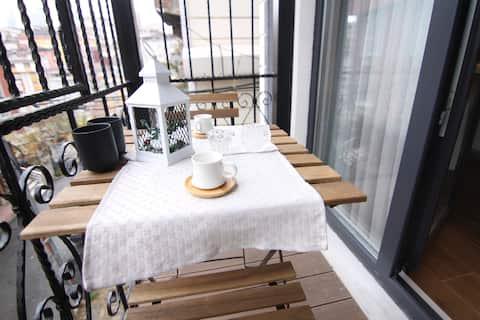 6 - Studio avec balcon dans un nouveau bâtiment