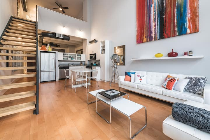 ♥FREE TV 30+ Day Stay!♥ Santana Row WFH ready Loft