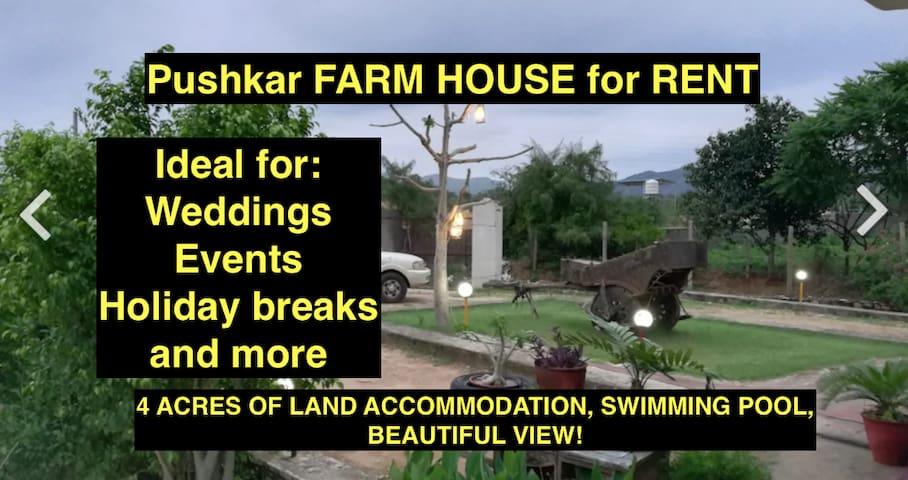 Beautiful Pushkar farmhouse for rent