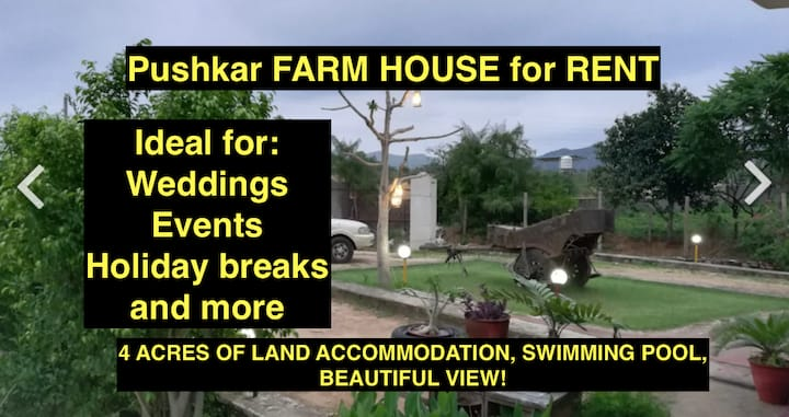 Beautiful Pushkar farmhouse for rent
