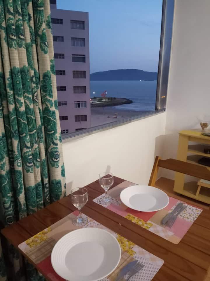 Apartamento pé na areia,Santos praia  José Menino