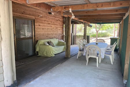 This patio is accessed directly from the carport with no steps.