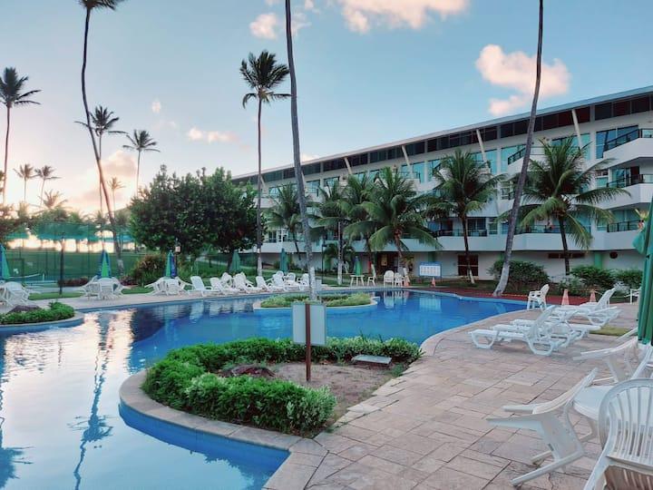 Flat no Ancorar Resort, térreo, Vista Para o mar!!