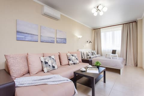 Новая Уютная квартира в центре города WhiteLama