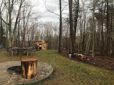 Campsite on farm near Shenandoah NP