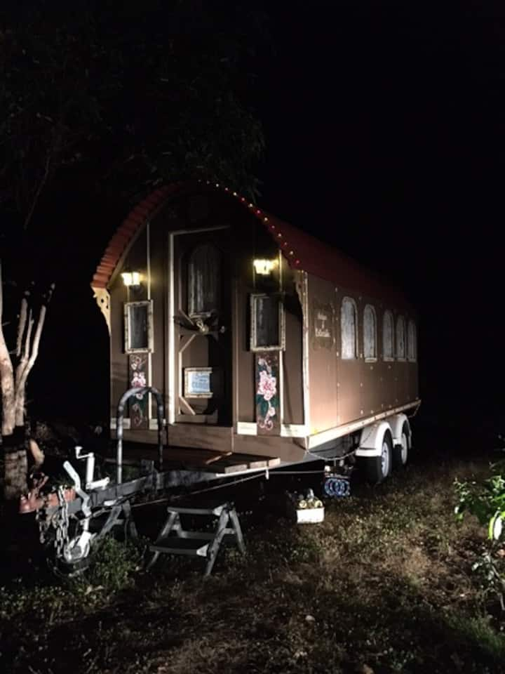 Unique Gypsy Wagon Semi Glamping