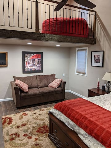 Red Guest Suite with loft
