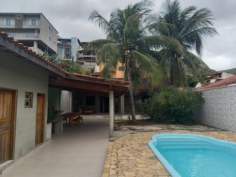 Casa aconchegante com piscina,churrasqueira-Pontal