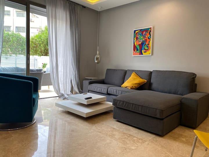 Location Duplex meublé avec jardin