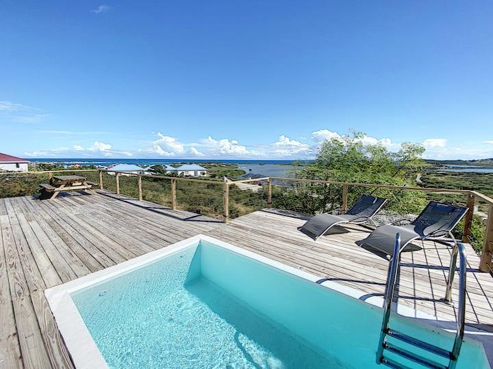 Paradise View, Maison créole avec piscine privée