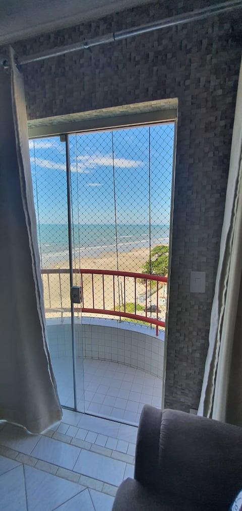 Apartamento 2 dorms pé na areia Itanhaém