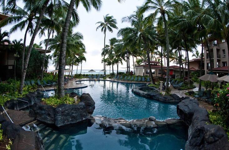 SPECTACULAR Marriott OCEANFRONT POIPU  sleeps 8