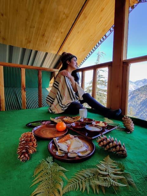 Sunny Mountaintop Cottage| 350 m Trek| Tandi
