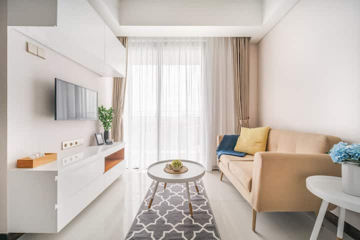New Modern & Serene 2BR Apt Connected to Mall