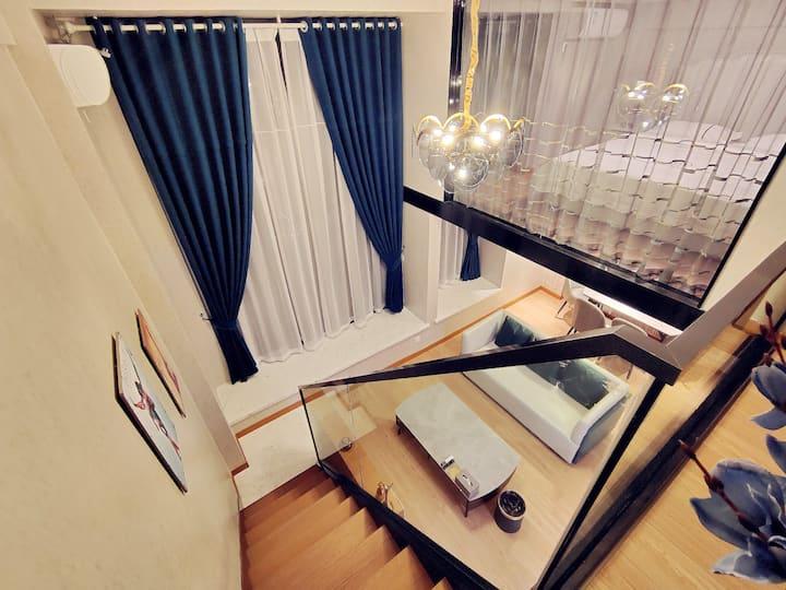 〖途宿〗臻选LOFT设计师公寓 北欧·飘窗湖景房