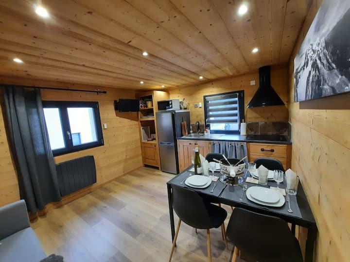 Appartement cosy, style chalet et idéalement situé