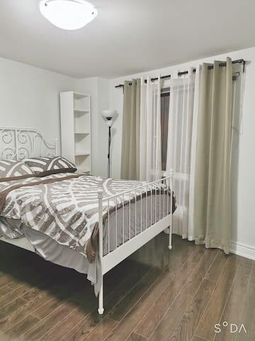 Bedroom B in a Cozy Beautiful End Unit Townhouse