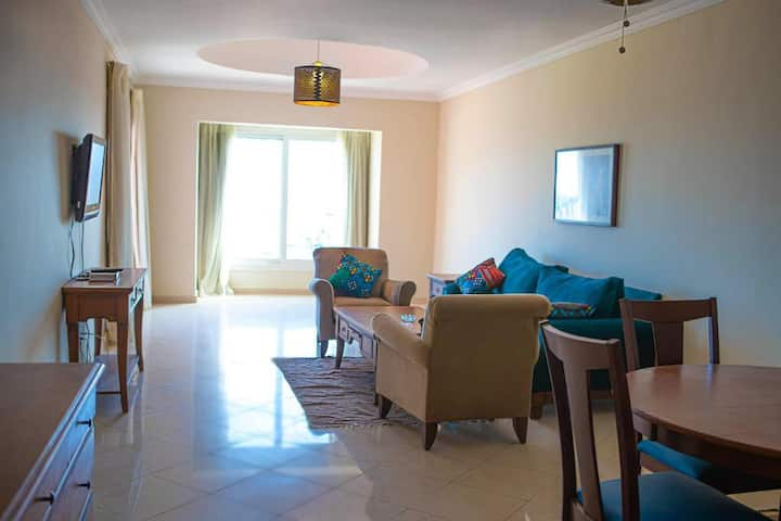 Family 2 Bedroom Suite Sea View Marina Hurghada