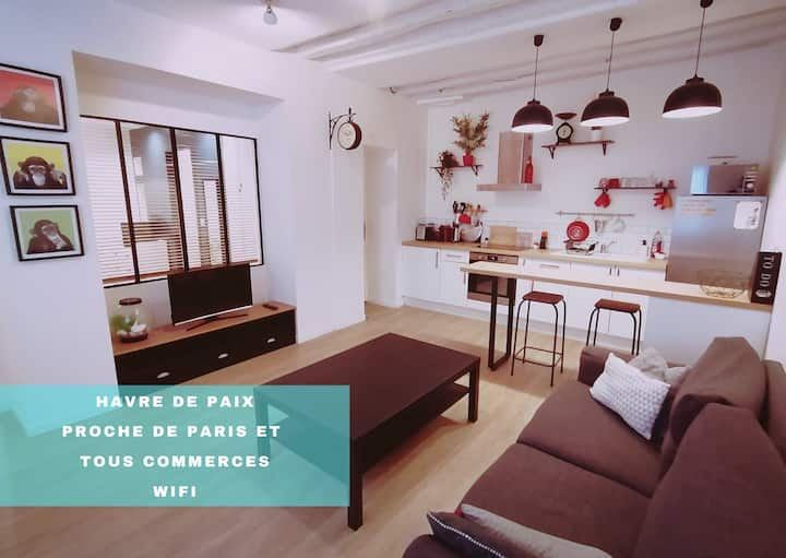 "Appartement "" Le petit cocon "" proche de Paris"