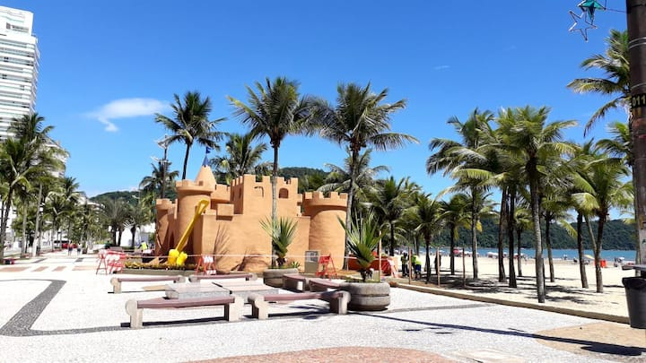 Pé na areia Casa Canto do Forte Praia Grande