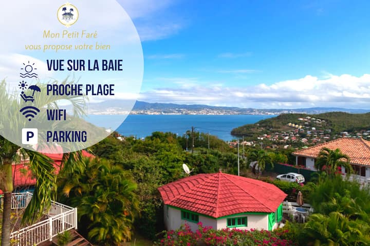 ♥ Valérie's peaceful home ☀ Sea view ☀ parking ♥