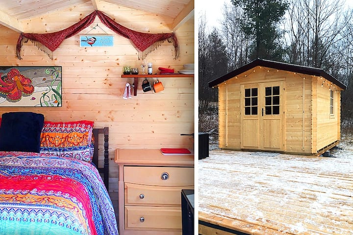 Care-free Glamping - intimate cabin in the forest