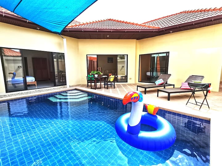 AnB poolvilla 3BR walk private beach in pratamnak