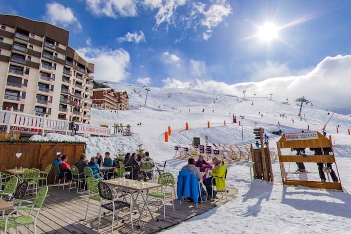 Ménuires Reberty - 3 pièces 6 pers - ski aux pieds