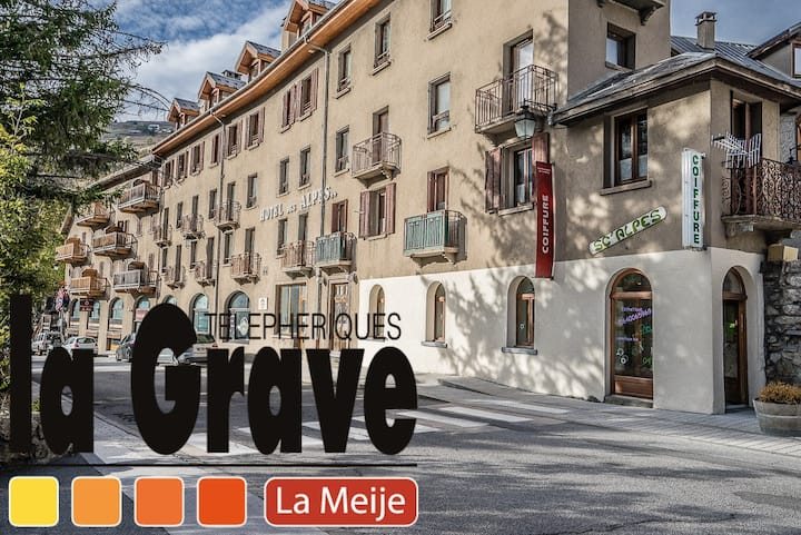 Large apartment 250m away from La Grave cable car