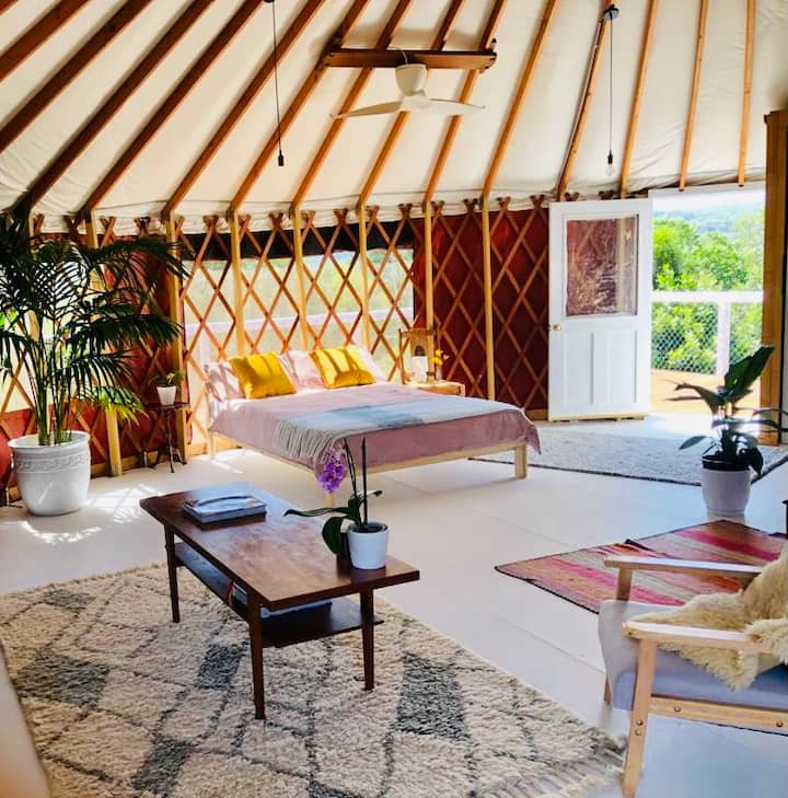 Byron Bay Hinterland Luxury Yurt Escape Terracota