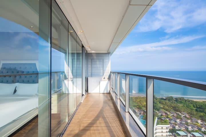 海棠湾保利精致海景两房一厅,靠近免税店,亚特兰蒂斯水世界