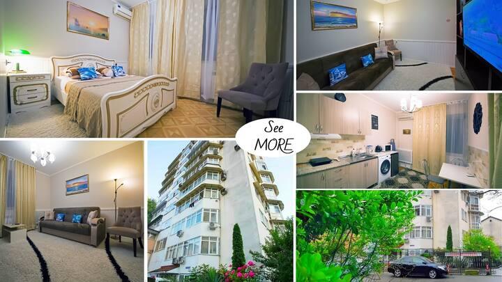 Двухкомнатные апартаменты в центре Сочи! See MORE